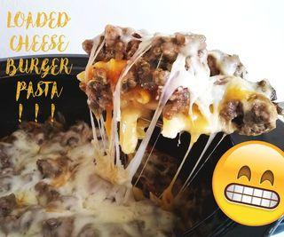 Loaded Cheeseburger Pasta in Crockpot