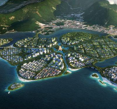 3 islands will be built off the coast of Malaysia and connected using autonomous vehicles - see the plans for 'BiodiverCity'