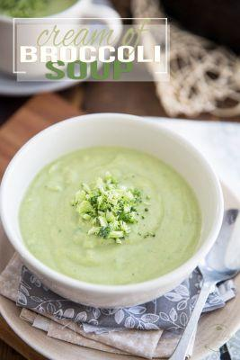 Squeaky Clean Cream of Broccoli Soup
