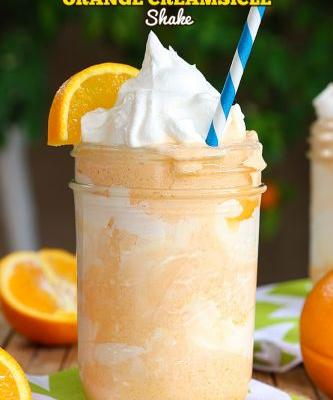 Dreamy Orange Creamsicle Shake