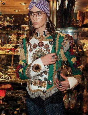Amanda Googe in Dolce&Gabbana for Vogue Russia March