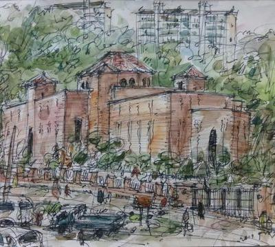 Sketches at the Latin American Cultural Center-Museum, Goyang City