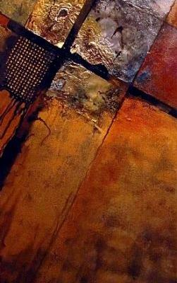 "Mixed Media Abstract Painting, ""IGNITION POINT"" by Carol Nelson Fine Art"