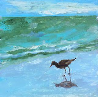 "Contemporary Wildlife Painting, ""Sea Bird,"" by Amy Whitehouse"
