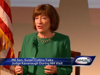 Maine Sen. Susan Collins talks Brett Kavanaugh during NH visit