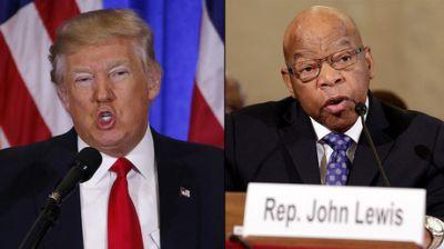 """Trump takes aim at """"all talk, no action"""" civil rights icon John Lewis in latest Twitter spat"""