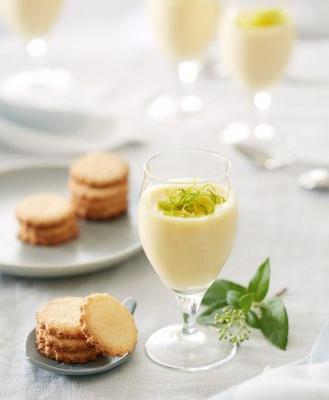 Recipe: Tangy Lime Possets with Coconut Wafers
