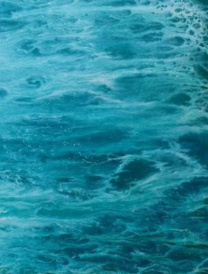 """Contemporary Abstract Seascape Art Painting """"Into The Deep II"""" by Colorado Contemporary Artist Kimberly Conrad"""