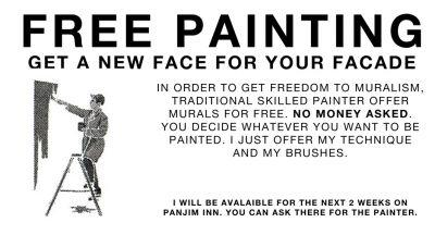"""""""Free Painting"""" by Escif in Panjim, India"""