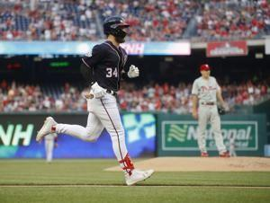 Harper homers twice, Nationals beat Phillies 7-3