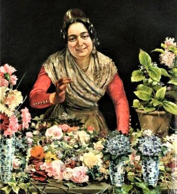 19C Spanish Flower Seller