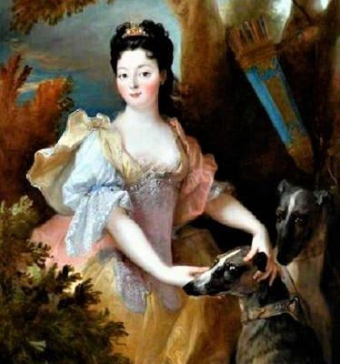 1700-10 Allegory of Diana Goddess of the Hunt with faithful Dogs