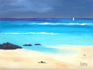 Storm Watch, 6x8 Original Oil Painting on Canvas Panel, Seascape
