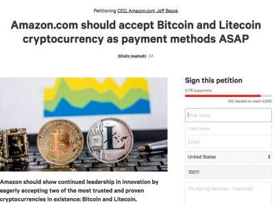 A petition on Change is calling on Amazon to accept bitcoin 'ASAP'