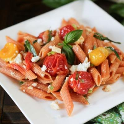 Red Lentil Pasta with Spicy Tomato