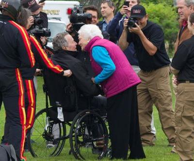 Looking back at George H.W. Bush's 90th birthday skydive