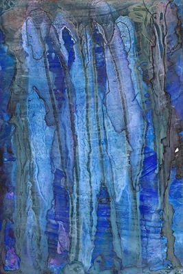 "Original Contemporary Abstract Mixed Media, Alcohol Ink Painting ""Old Souls"" by Contemporary New Orleans Artist Lou Jordan"