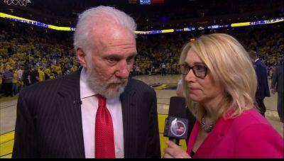ESPN's Doris Burke accomplished the seemingly impossible - she stunned the NBA's biggest curmudgeon, Gregg Popovich