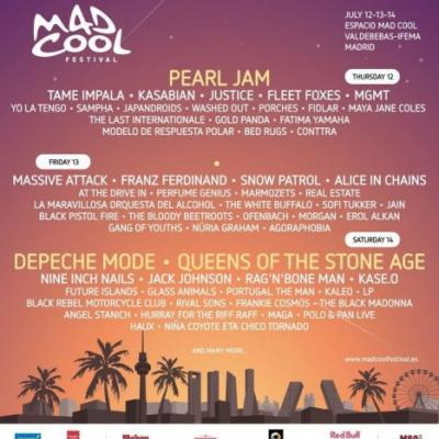 Mad Cool Festival adds to 2018 lineup with Tame Impala, Franz Ferdinand, Alice in Chains, and more