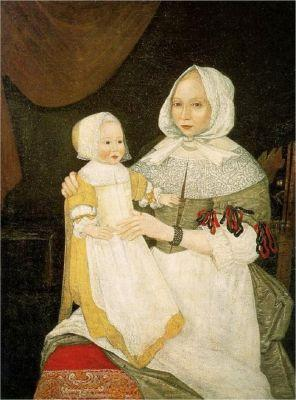 17C New England Mothers & Children - With & without Scarves