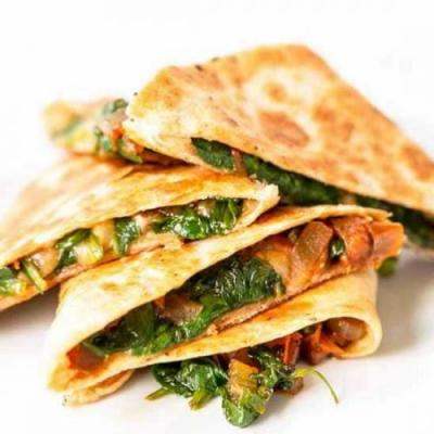 Spinach quesadillas