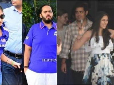 Akash Ambani, Shloka Mehta, Anant and Radhika Merchant slay airport fashion before Mumbai Indians win