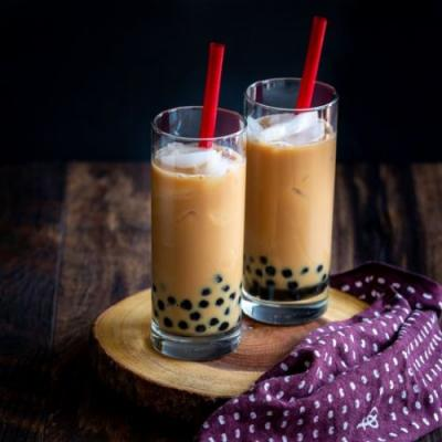 Homemade Cream Earl Grey Bubble Tea