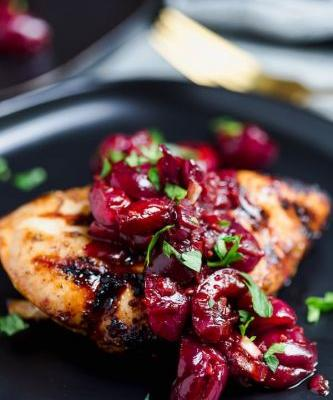 Cherry-Balsamic Sauce and Grilled Chicken