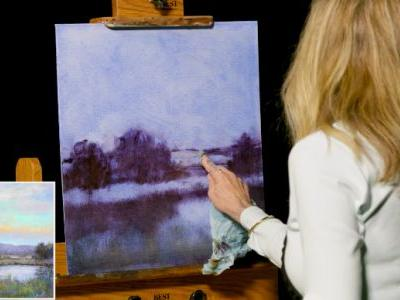 """New DVD """"Luminous Landscape Painting in Water Mixable Oils"""" with Lori McNee"""