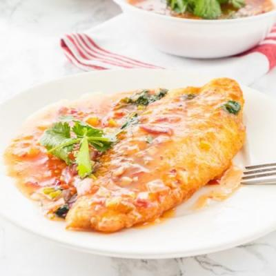 Fish with Thai sweet chili sauce