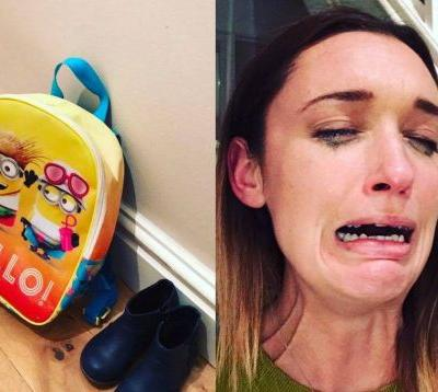 Every parent will relate to this mum's teary reaction to leaving her daughter with a childminder for the first time
