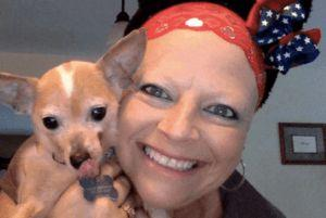Dog Found In Trash Comforts Foster Mom During Chemo