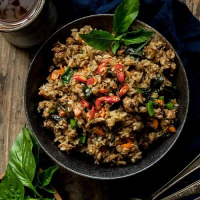 Thai Basil Turkey Fried Rice