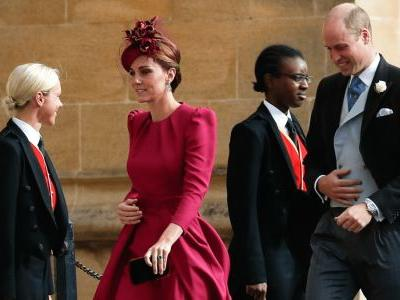 Kate Middleton Wore a Vibrant, Raspberry-Toned Alexander McQueen Dress for Princess Eugenie's Wedding