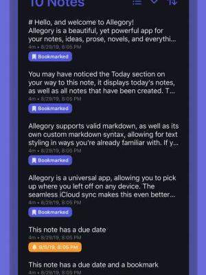 Allegory is a Powerful and Well-Designed Notes App for iOS 13
