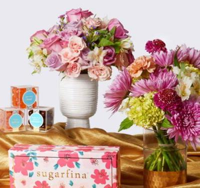 UrbanStems is pairing its most popular flower bouquets with candles, candies, and perfume - it's the perfect all-in-one Mother's Day gift