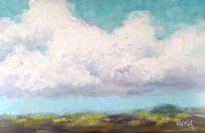 All About the Clouds, 9x6 Oil Painting on Canvas Panel, Daily Painting Skyscape