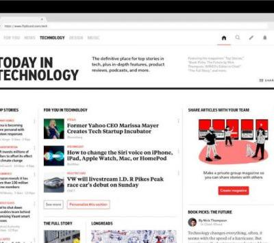 Flipboard launches a new tech section