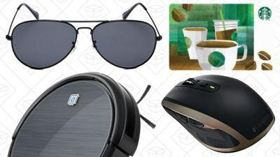 Today's Best Deals: 50% Off Starbucks Gift Cards, Eufy RoboVac Exclusive, Logitech Gear, and More