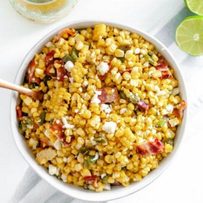 Grilled Corn Salad with Bacon