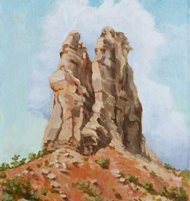 "Original Colorado Landscape Painting ""Independence Monument"" by Colorado Artist Nancee Jean Busse, Painter of the American West"