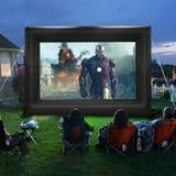 This 20-Foot Inflatable Screen Is Perfect For Backyard Movie Nights Under the Stars