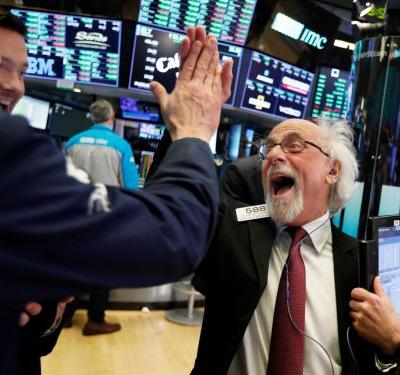 Stocks soar after a trifecta of good news about jobs, the Fed, and Trump's trade war