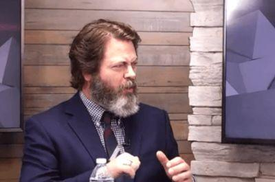 Nick Offerman keeps it old school in introducing new technology at CES 2017