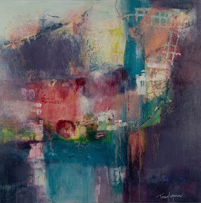 """Expressionism, Contemporary Art, Mixed Media Abstract Painting, """"31 Flavors"""" by Contemporary Artist Tracy Lupanow"""
