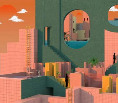 Tishk Barzanji's Illustrations Envision Complex Universes Inspired By Surrealism And Modern Architecture
