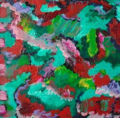 """Colorful Contemporary Abstract Art Painting """"Liquid Map"""" by Santa Fe Contemporary Artist Melanie Birk"""