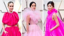 Outrageous Pink Dresses Ruled The Oscars Red Carpet
