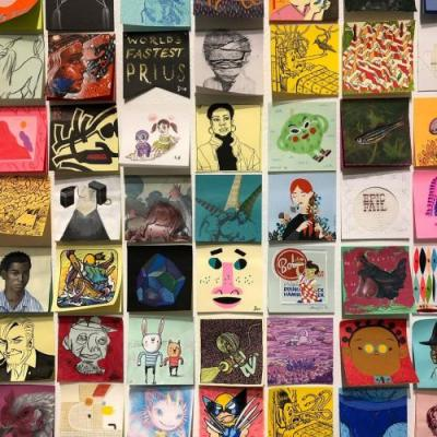 Hundreds of Artists Scale Down Their Work for Giant Robot's 14th Annual Post-It Show