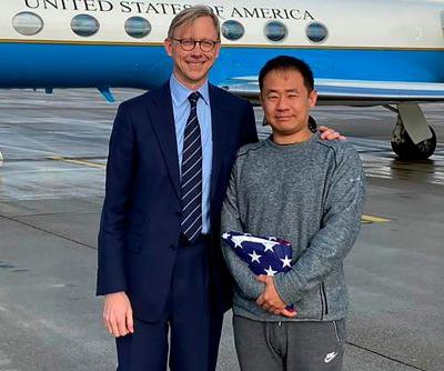 American student Xiyue Wang, freed in Iran prisoner swap, is on his way home